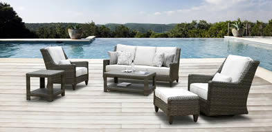 Hanamint Oconee Aluminum Wicker Furniture